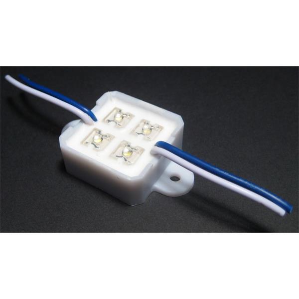LED Modul mit Anschlusskabel an Stromquelle und Verbindung mehrere Module