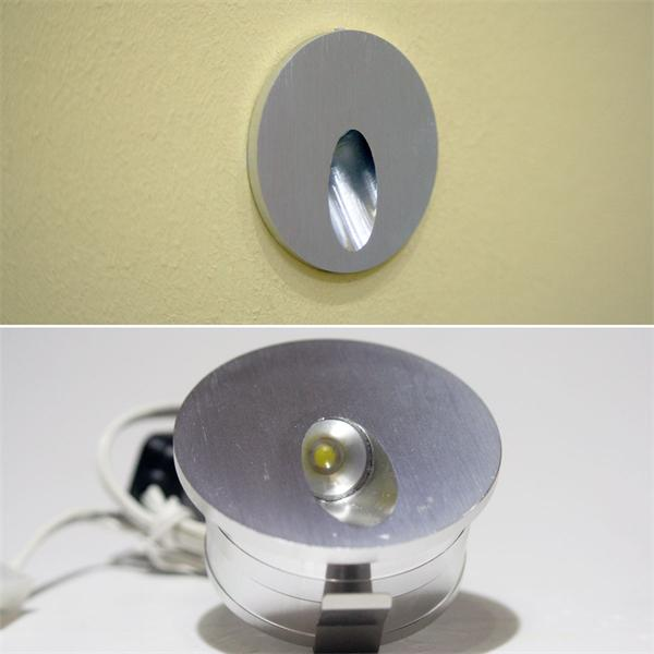 LED Einbauspot mit einem Edison Highpower LED Chip und ca. 75lm Lichtstrom