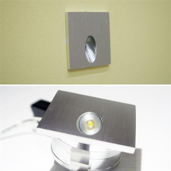 LED Einbauspot mit einem Edison Highpower LED Chip und ca. 85lm Lichtstrom