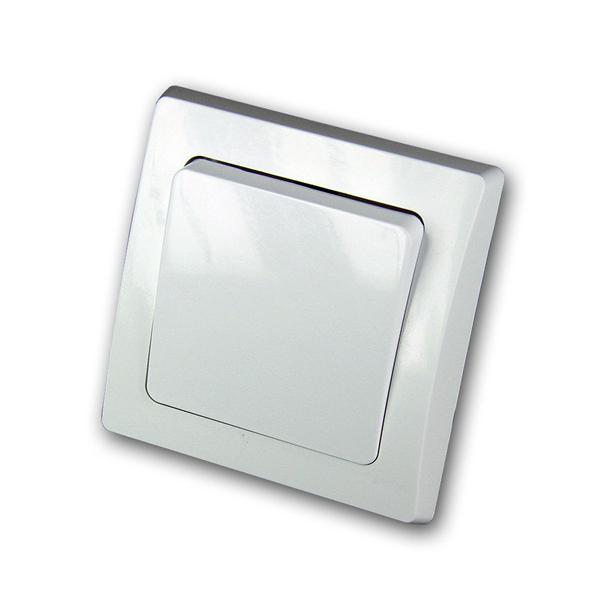 DELPHI Taster 250V~/ 10A, inkl. Rahmen, UP, weiß