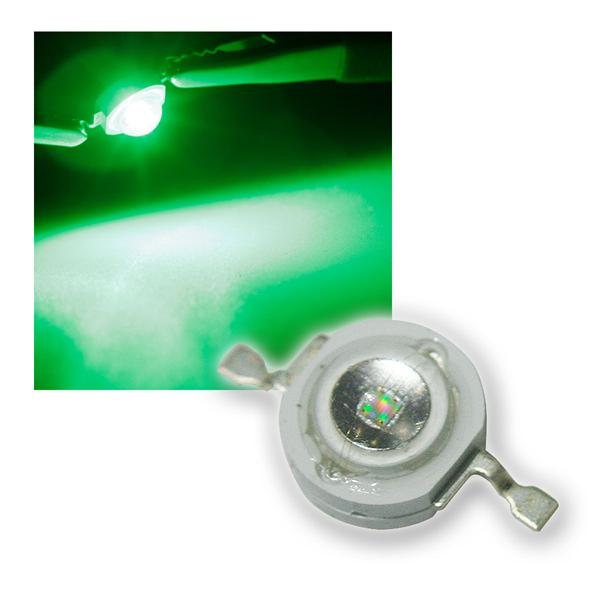 "Highpower LED 1W grün, Typ ""WTN-1W-75g"" 1 Watt"