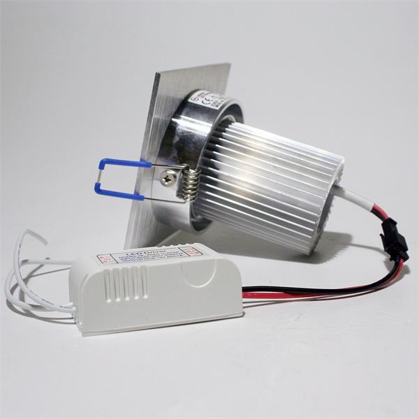 LED Downlight Alu für 230V mit nur ca. 9W Verbrauch