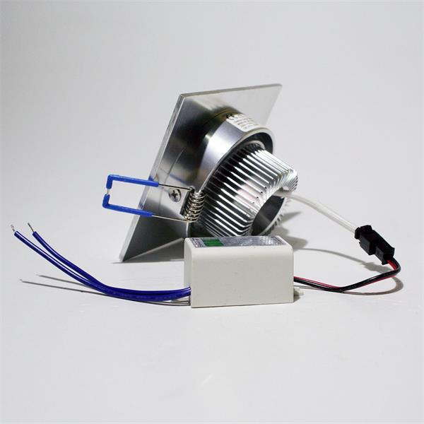 LED Downlight Alu für 230V mit nur ca. 3W Verbrauch