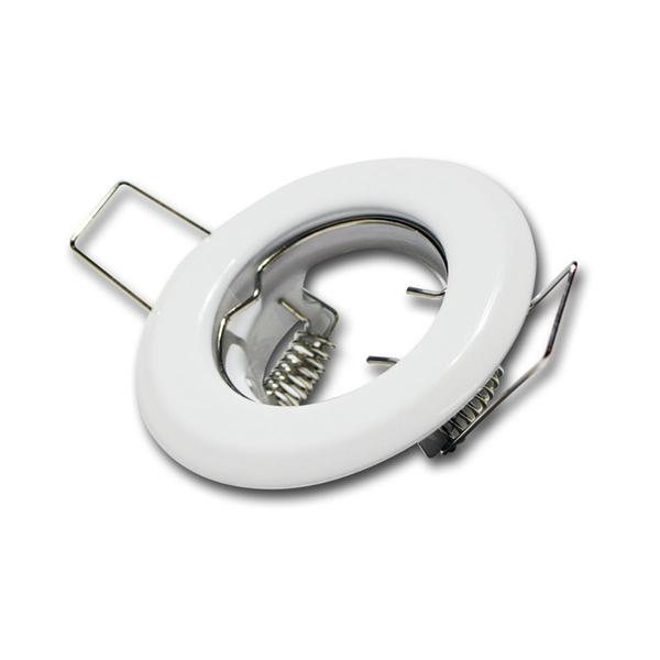 Lampen Einbaurahmen weiß, starr, MR11, 12V