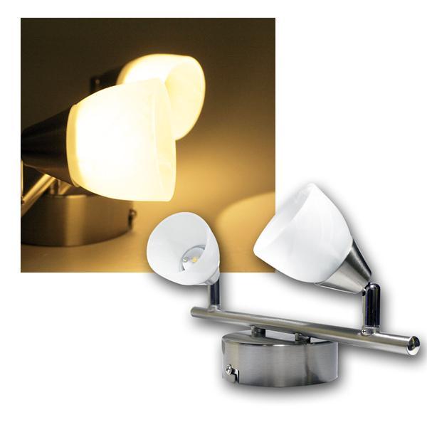 """Spotleuchte """"Venus"""" 2-flammig 3W LED warmweiß 230V"""