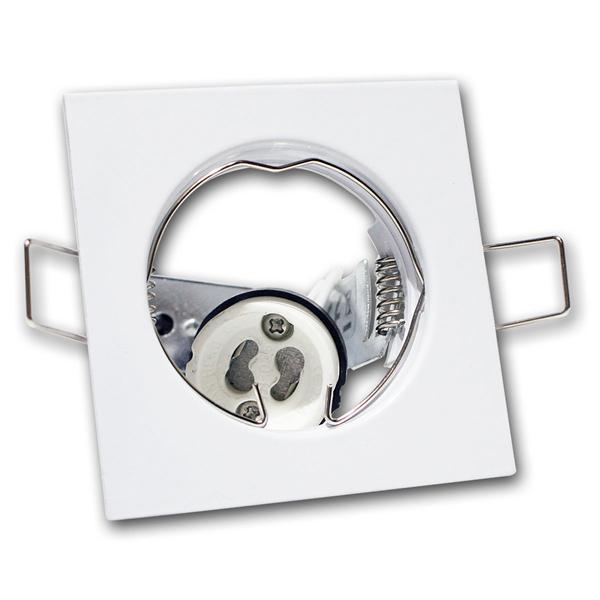 GU10 Decken-Einbauleuchte weiß, eckig, starr, 230V