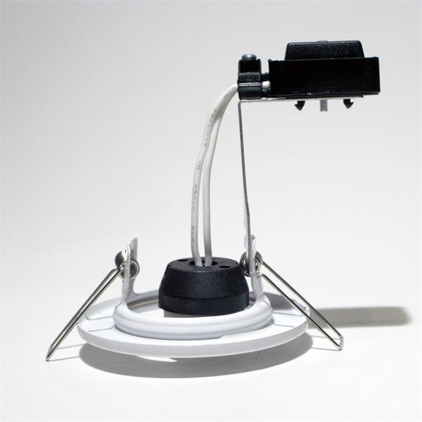 Lampenfassung mit Zugentlastung für Leuchtmittel mit GU10 Sockel