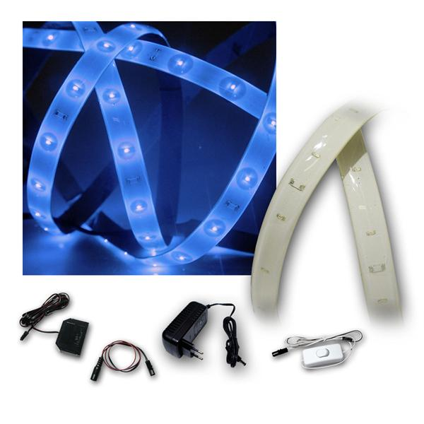 Lichtband Set Blau, 6x1,2m, PCB-weiß, 6x 60 LEDs