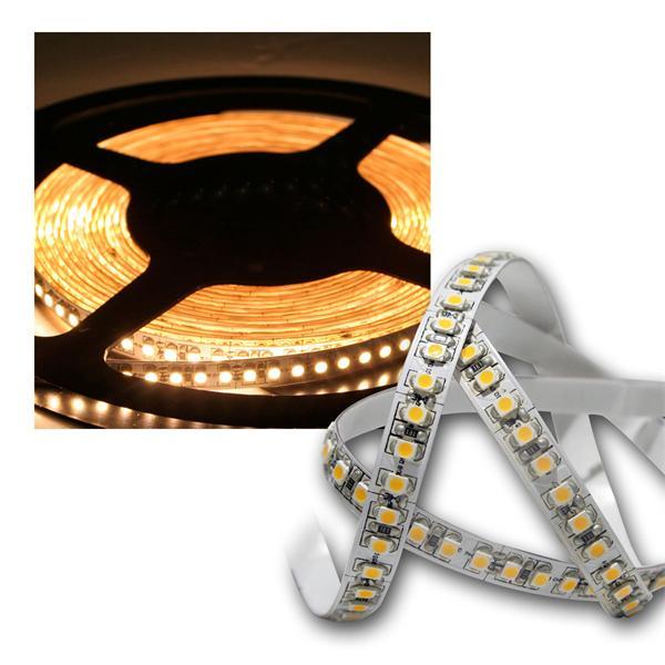 5m LED Lichtband 180LED/m warm-weiß PCB weiß