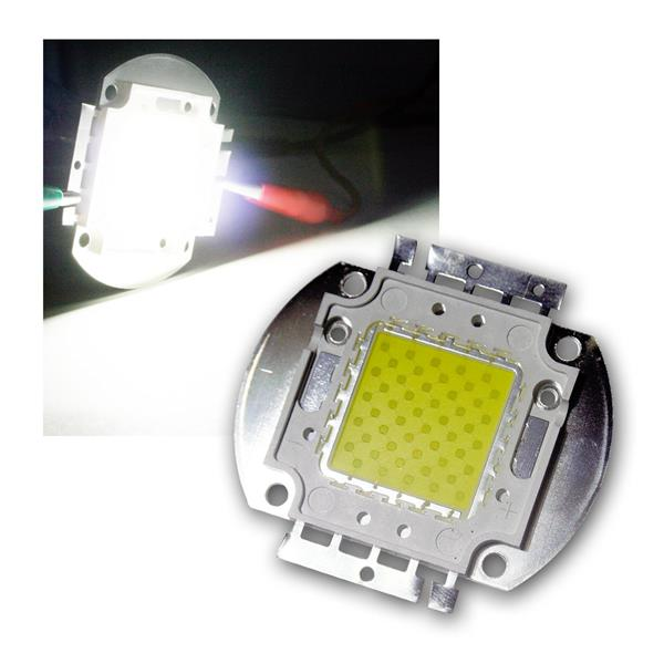 LED Chip 50W Highpower kalt-weiß SQUARE