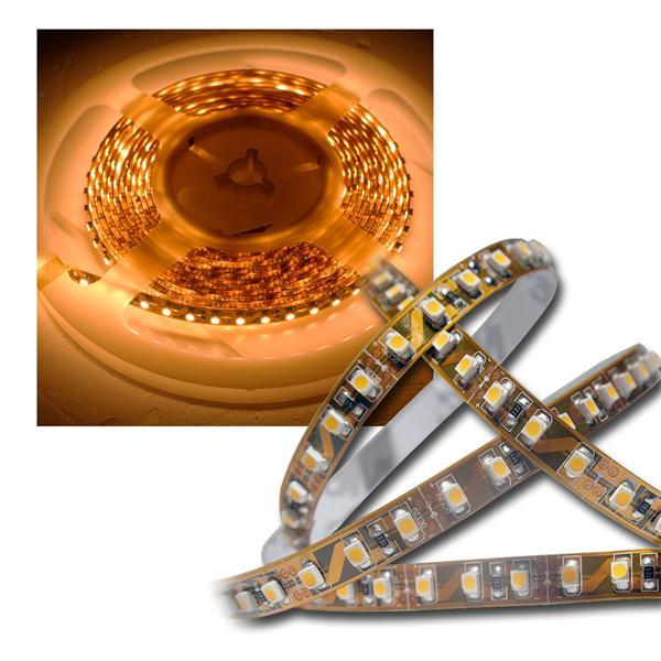 5m LED Lichtband 120LED/m Golden-Weiß PCB braun