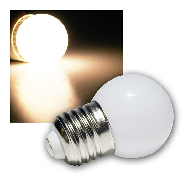 LED-Tropfenlampe E27 warm weiß mit 9 SMD LEDs