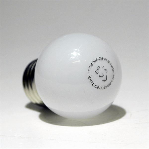LED Glühbirne Tropfen mit dem Maß 40x64mm und 9 SMD LEDs