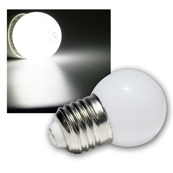 LED-Tropfenlampe E27 kalt weiß mit 9 SMD LED