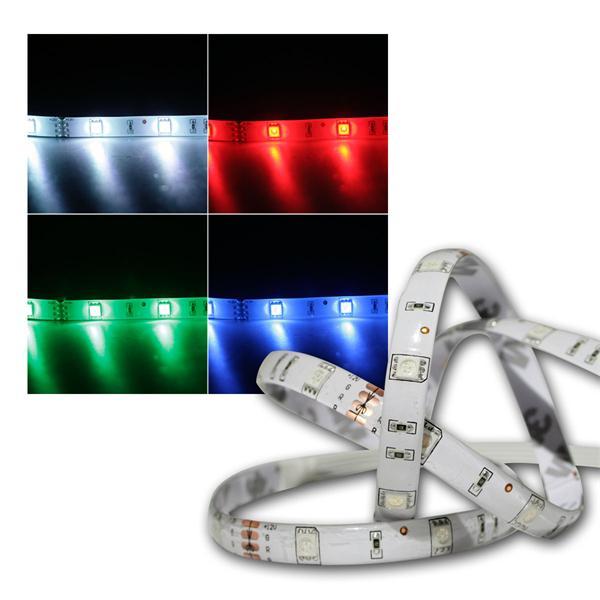 RGB Streifen 50cm 15 LEDs mit Steckverbindern, 12V