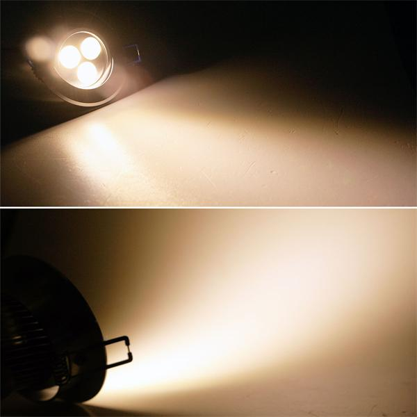 LED Einbauspot rund mit 3x 2W Hochleistungs-LEDs und ca. 320lm Lichtstrom