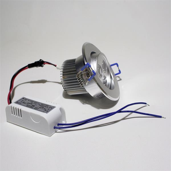 LED Downlight Alu für 230V mit nur ca. 6W Verbrauch