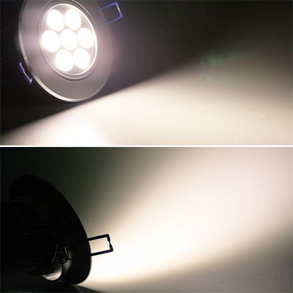 LED Einbauspot 230V rund mit ultrastarken 560lm Lichtstrom aus 7x 1W HighTec-LEDs