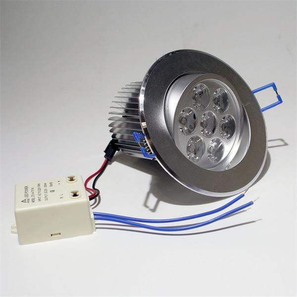 LED Downlight Alu für 230V mit nur ca. 7W Verbrauch