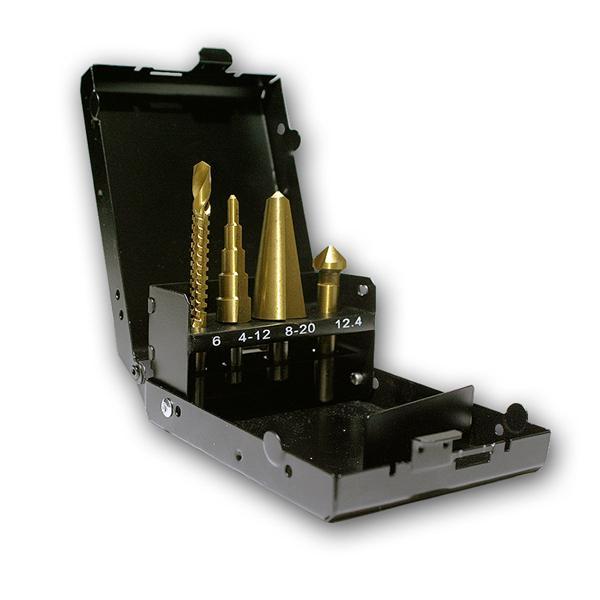 4-teiliges HSS-Spezialbohrer Set in Metallbox