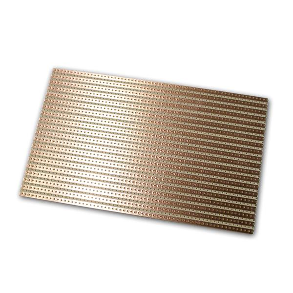 Platine 160x100mm Lötstreifenraster RM5,08, Kupfer