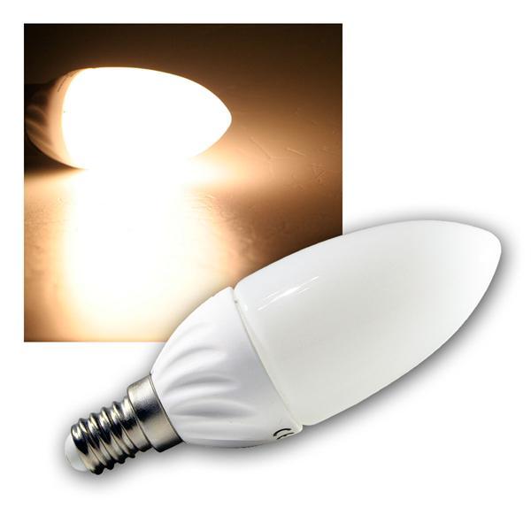 LED-Kerzenlampe E14 K25 SMD warm weiß 220lm 230V