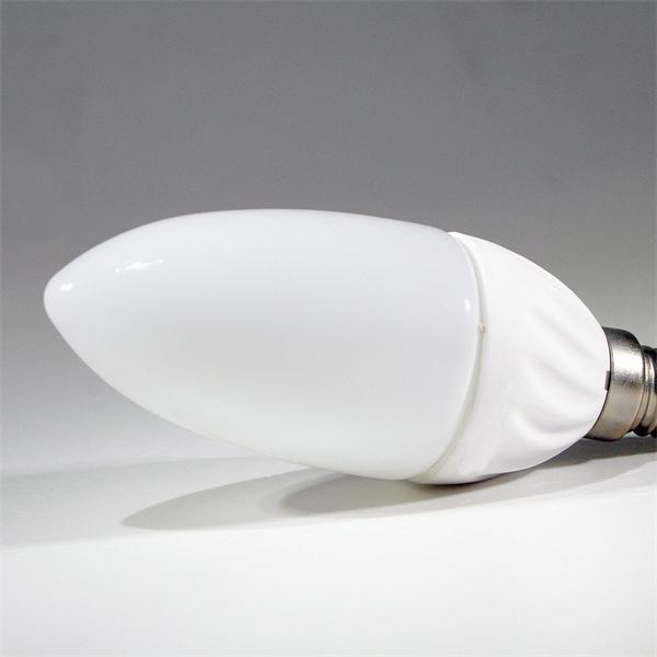 E14 LED Kerzenstrahler mit dem Maß 37x97mm und 16 SMD LEDs für nahezu komplette Raumausleuchtung