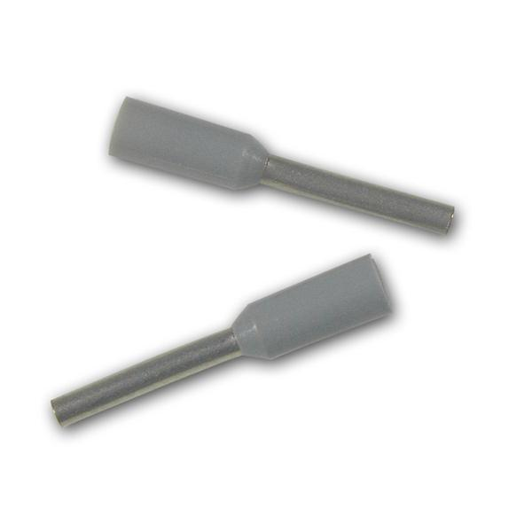 100 Aderendhülsen, grau isoliert, 0,14mm², 11mm