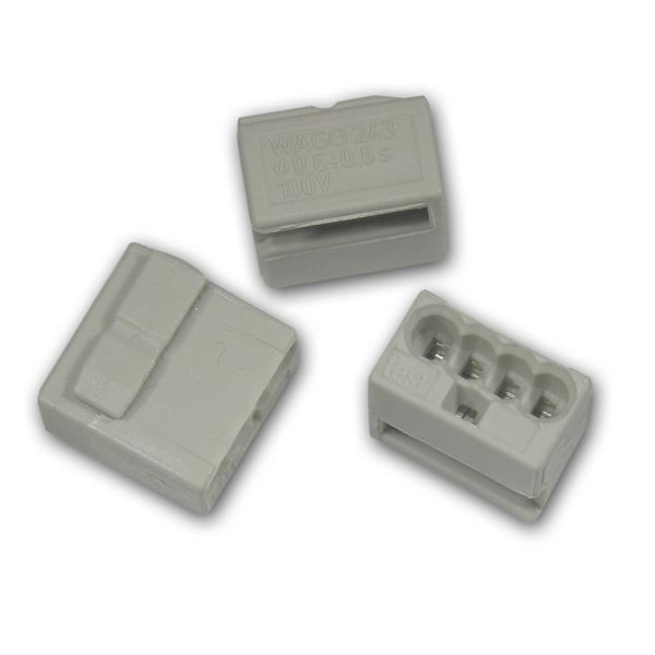 10 WAGO Micro-Steckklemmen 4x 0,6-0,8 mm² -  grau