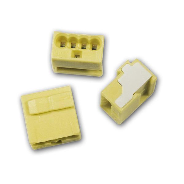 10 WAGO Micro-Steckklemmen 4x 0,6-0,8 mm² -  gelb