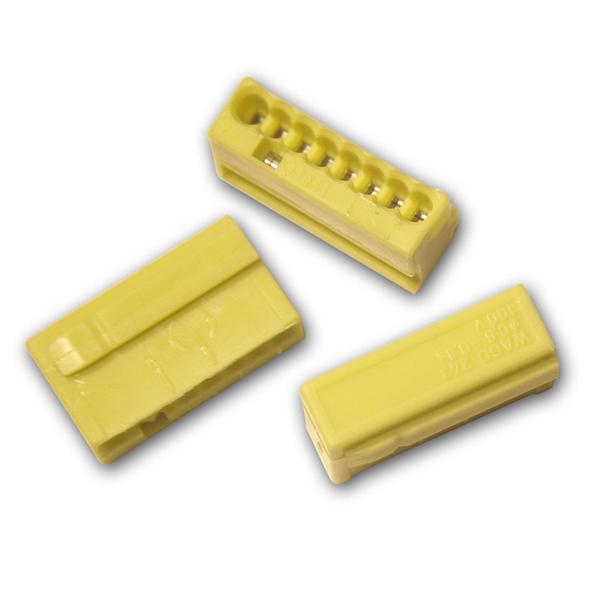 10 WAGO Micro-Steckklemmen 8x 0,6-0,8 mm² -  gelb