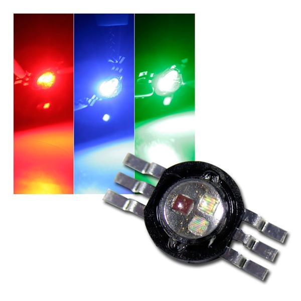 Highpower LED Chip 3W RGB, rot grün blau