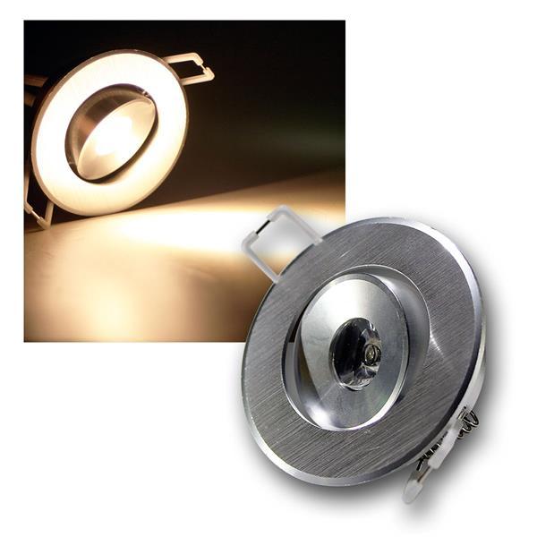 LED-Einbauleuchte RD-1 1W 80lm RUND warm weiß