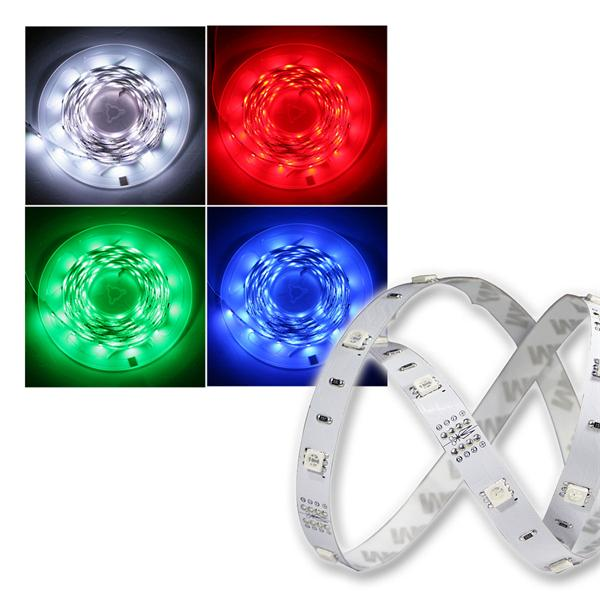 5m SMD LED FLEX-Strip RGB indoor 150 LEDs PCB-Weiß