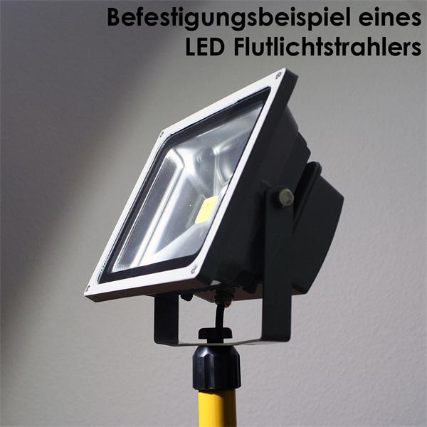 Haltevorrichtung für LED Highpower Strahler mit 30W oder 50W