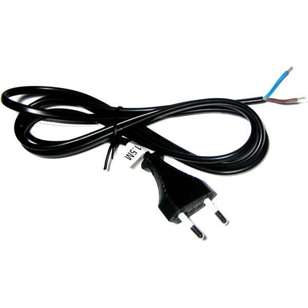 Euro-Netzkabel 1,5m schwarz 2polig Kabel & Stecker