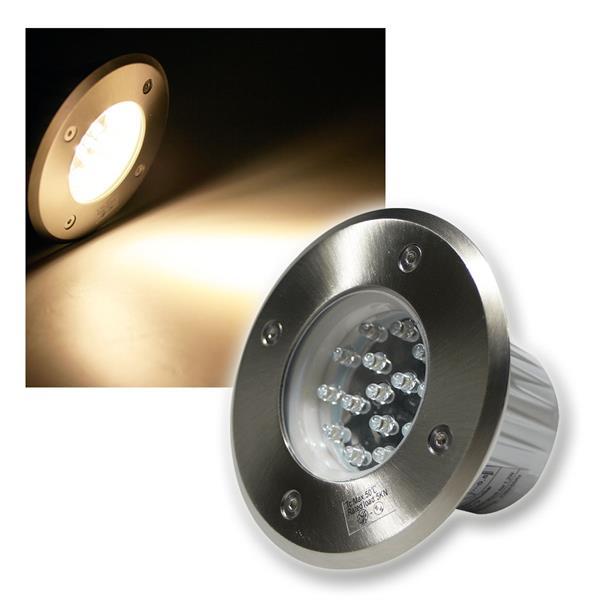 Bodenleuchte BEL 15R IP67 15 LEDs warm weiß rund