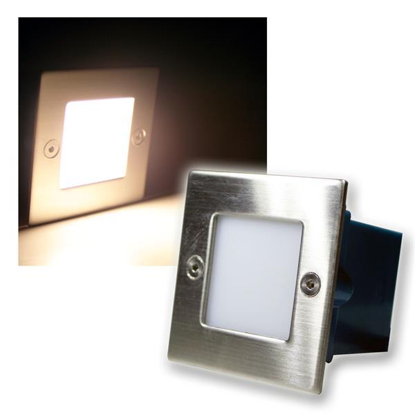 LED Wand-/Boden-Einbauleuchte eckig warm weiß 230V