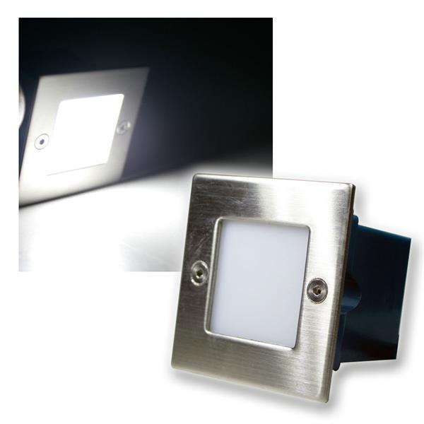 LED Wand-/Boden-Einbauleuchte eckig kalt weiß 230V