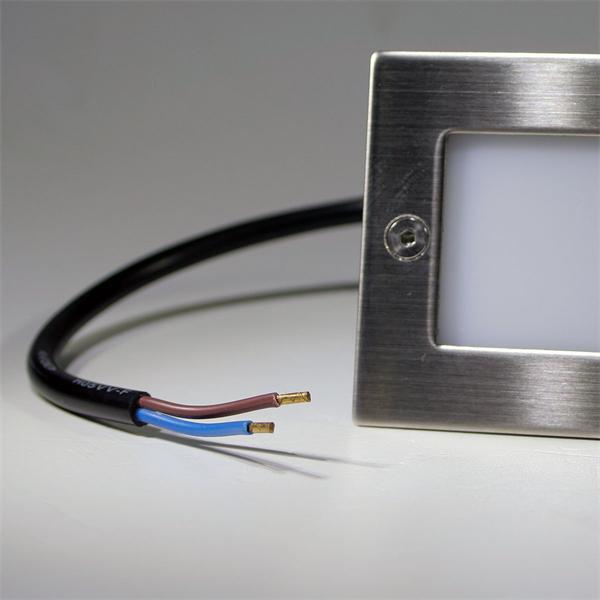 IP54 LED Einbaustrahler für 230V DC mit nur 1,5W Verbrauch