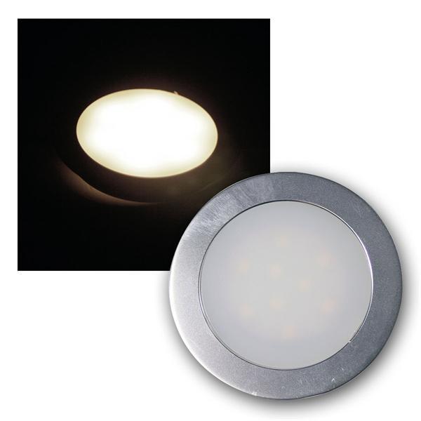 Einbauleuchte EBL Slim IP67 9 LEDs warm weiß Alu