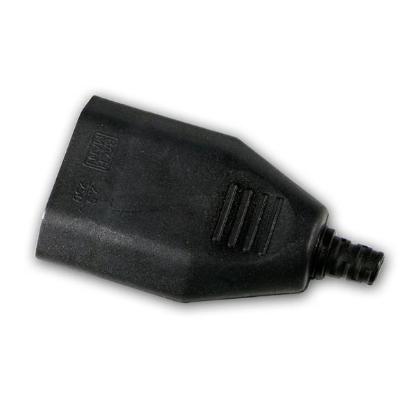 Europa-Kupplung Kunststoff schwarz, max. 250V/2,5A