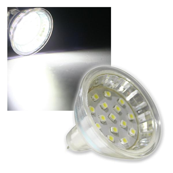 MR16 Strahler H10 SMD 15 LEDs kalt weiß 60lm 120°