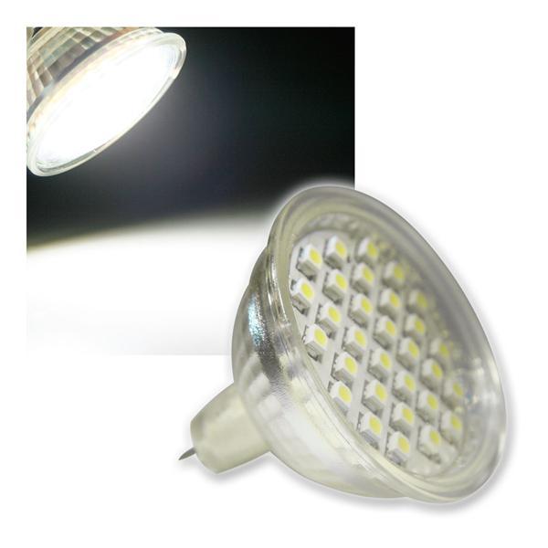 MR16 Strahler H20 SMD 30 LEDs kalt weiß 120lm 12V