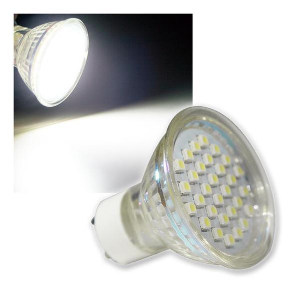 GU10 Strahler H20 SMD 30 LEDs kalt weiß 120lm