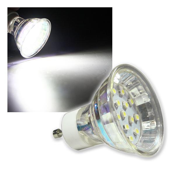 GU10 Strahler H10 SMD 15 LEDs kaltweiß 60lm 120°