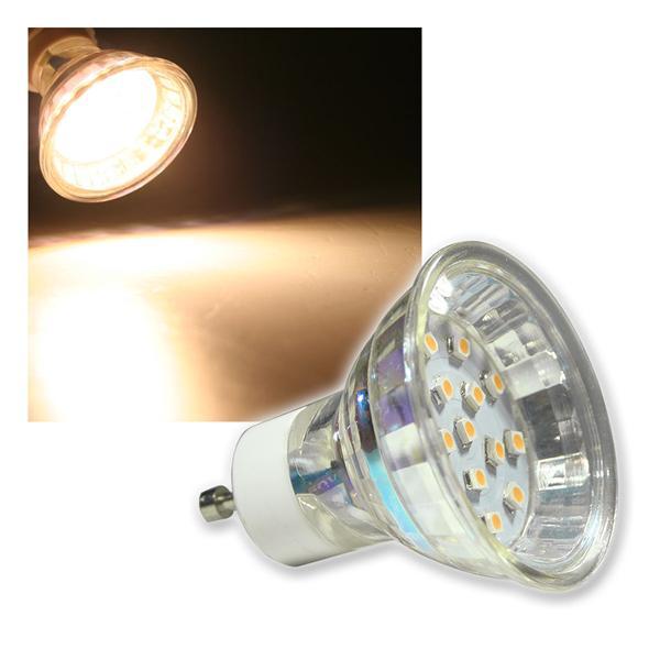 GU10 Strahler H10 SMD 15 LEDs warm weiß 50lm 120°