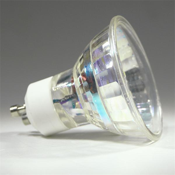 GU10 LED Spot mit dem Maß 50x55mm und abschließender Front mit Glas Cover