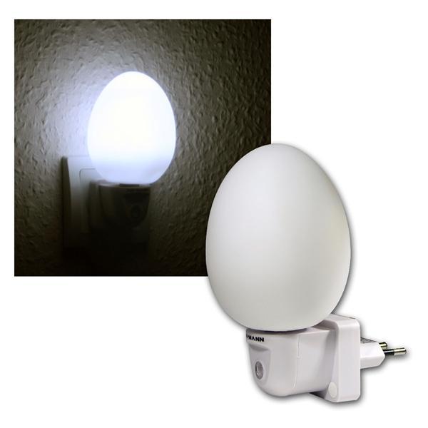 LED-Nachtlicht mit Dämmerungsautomatik, weiß, 230V