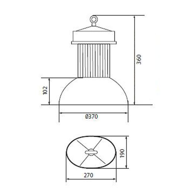LED Highpower Strahler mit 60° Abstrahlwinkel für perfekte Ausleuchtung